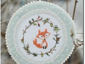 Пошаговый МК: новогодняя игрушка - медальон с лисичкой. Ярмарка Мастеров - ручная работа, handmade.