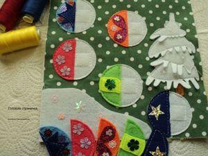 Шьем страничку-пазл «Новогодние шары» для развивающей книжки. Ярмарка Мастеров - ручная работа, handmade.