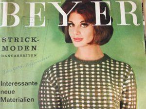 Журнал по вязанию — Beyer — вязанная мода-1962 апрель. Ярмарка Мастеров - ручная работа, handmade.