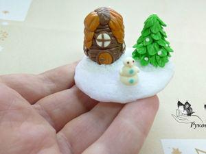 Лепим зимнюю композицию из полимерной глины: видео мастер-класс. Ярмарка Мастеров - ручная работа, handmade.