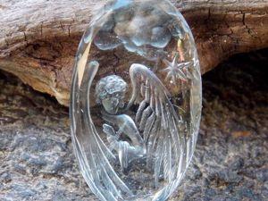 Инталия на топазе. Ангел Благославляющий!. Ярмарка Мастеров - ручная работа, handmade.