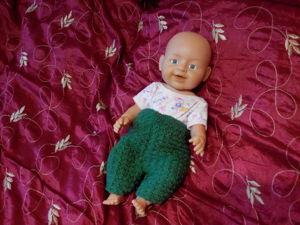 Как связать теплые штанишки на пупса Warm Baby, Baby born и им подобным. Ярмарка Мастеров - ручная работа, handmade.