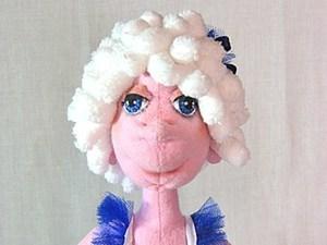 Пушистая шевелюра для куклы. Ярмарка Мастеров - ручная работа, handmade.