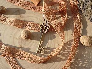 Окрашиваем кружево в винтажный цвет. Ярмарка Мастеров - ручная работа, handmade.
