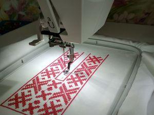 Машинная вышивка. Ярмарка Мастеров - ручная работа, handmade.