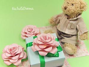 Видео мастер-класс: Розы из бумаги. Ярмарка Мастеров - ручная работа, handmade.