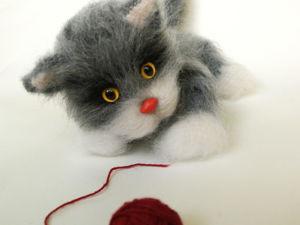 Котик в капюшоне. Цена снижена!!!. Ярмарка Мастеров - ручная работа, handmade.
