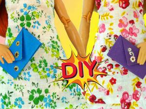 Как сделать СУМКУ из бумаги для кукол и как её украсить DIY. Ярмарка Мастеров - ручная работа, handmade.