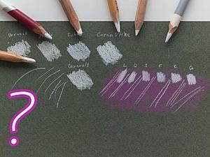 Самый белый: тест пастельных карандашей. Ярмарка Мастеров - ручная работа, handmade.