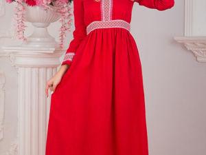 Платье Льняное Алатырь. Ярмарка Мастеров - ручная работа, handmade.