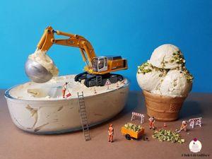 Кондитер-Гулливер эксплуатирует лилипутов? Как игрушечные человечки помогают Matteo Stucchi выпекать сладости. Ярмарка Мастеров - ручная работа, handmade.
