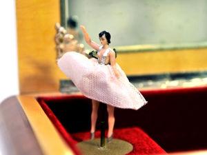 Небольшая Итальянская Музыкальная Шкатулка с Балериной 1950-1970гг. Ярмарка Мастеров - ручная работа, handmade.