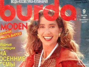 Burda Moden № 9/1989. Технические рисунки. Ярмарка Мастеров - ручная работа, handmade.