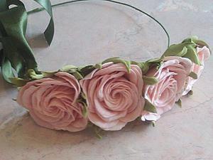 Делаем розы из фоамирана на примере венка-повязки. Ярмарка Мастеров - ручная работа, handmade.