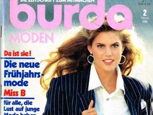 Парад моделей Burda Moden № 2/1988. Немецкое Издание. Ярмарка Мастеров - ручная работа, handmade.