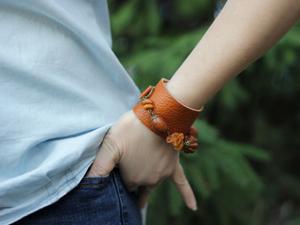 Скидка 30% на кожаный браслет с камнями Джита!. Ярмарка Мастеров - ручная работа, handmade.