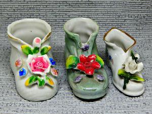 Винтажные фарфоровые ботинки. Ярмарка Мастеров - ручная работа, handmade.