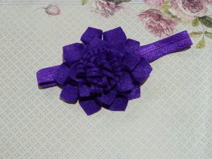 Шьем легко и быстро повязку с цветком из фетра. Ярмарка Мастеров - ручная работа, handmade.