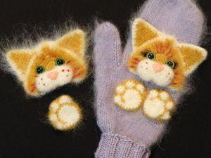 Видео мастер-класс аппликация «Котёнок» крючком. Ярмарка Мастеров - ручная работа, handmade.