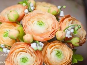 Валяем цветок «Ранункулюс». Ярмарка Мастеров - ручная работа, handmade.