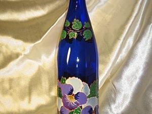 Роспись бутылки. Ярмарка Мастеров - ручная работа, handmade.