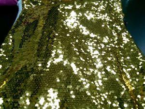 Видео: золотые пайетки на сетке, 890 руб./метр. Ярмарка Мастеров - ручная работа, handmade.