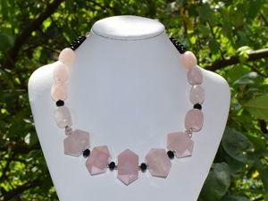 Розовый кварц камень обзор моих украшений. Ярмарка Мастеров - ручная работа, handmade.