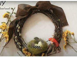 Пасхальный венок / DIY: Easter wreath. Ярмарка Мастеров - ручная работа, handmade.