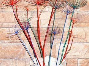 Как быстро и просто сделать разноцветные веточки для декора интерьера. Ярмарка Мастеров - ручная работа, handmade.
