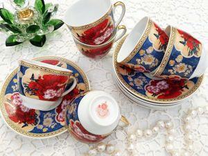 Дополнительные фото фарфорового кофейного сервиза. Ярмарка Мастеров - ручная работа, handmade.