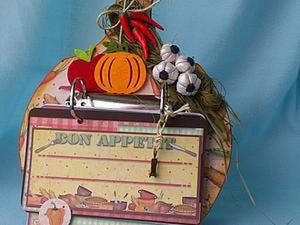 Кулинарная книга на доске своими руками. Ярмарка Мастеров - ручная работа, handmade.