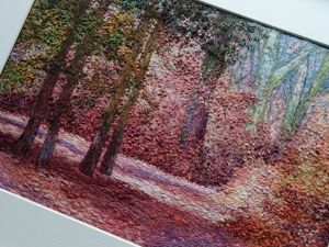 Вышивка картины «Розовый лес». Ярмарка Мастеров - ручная работа, handmade.