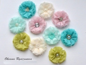 Делаем цветы из ткани для скрапбукинга. Ярмарка Мастеров - ручная работа, handmade.