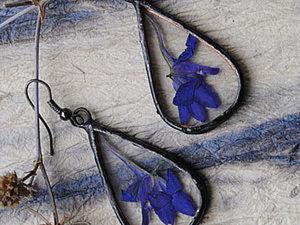 """Витражные украшения """"Цветы под стеклом"""". Ярмарка Мастеров - ручная работа, handmade."""