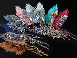 Анонс новых украшений — крылатые моносерьги. Ярмарка Мастеров - ручная работа, handmade.