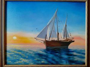 Морской пейзаж. Ярмарка Мастеров - ручная работа, handmade.