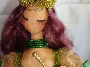 Создание текстильной куклы-тряпиенсы («Хозяйка Медной Горы»). Ярмарка Мастеров - ручная работа, handmade.