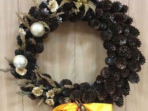 Мастерим сами рождественский венок. Ярмарка Мастеров - ручная работа, handmade.