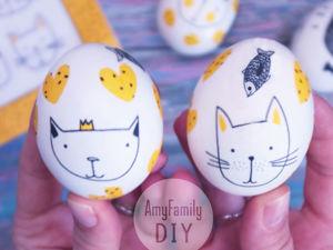 Украшаем яйца на Пасху салфетками. Ярмарка Мастеров - ручная работа, handmade.