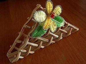Цветок из проволоки и ниток мулине. Ярмарка Мастеров - ручная работа, handmade.