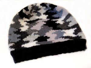 Вяжем шапочку в технике интарсия. Ярмарка Мастеров - ручная работа, handmade.