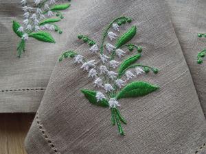 Весенняя распродажа льняных салфеток с вышивкой! Уютный текстиль для дома и дачи!. Ярмарка Мастеров - ручная работа, handmade.