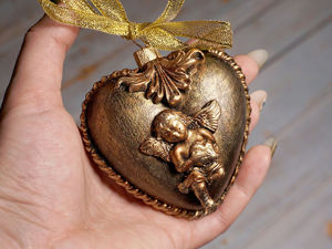 Новогодняя подвеска «Сердце». Ярмарка Мастеров - ручная работа, handmade.