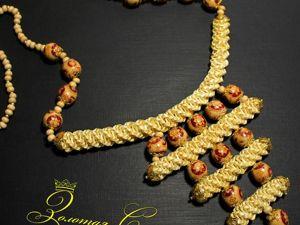 Колье в стиле  «Бохо» из соломенных плетешков. Ярмарка Мастеров - ручная работа, handmade.