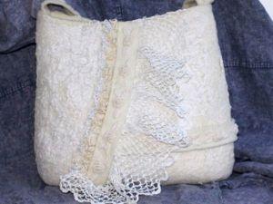 Валяем внутренний карман сумки с клапаном. Ярмарка Мастеров - ручная работа, handmade.