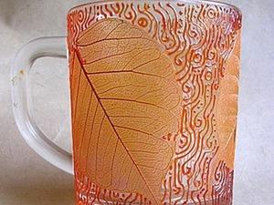 Мастер-класс по изготовлению кружки с листьями. Ярмарка Мастеров - ручная работа, handmade.
