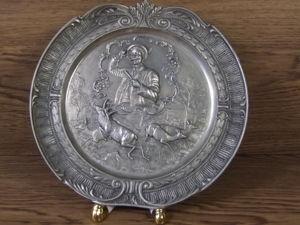 Оловянная тарелка  кувшин  стопки. Ярмарка Мастеров - ручная работа, handmade.