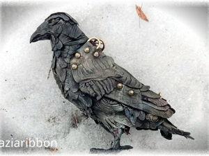 Кожаная сумка  «Черный ворон Эдмунд». Ярмарка Мастеров - ручная работа, handmade.