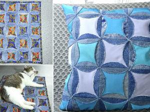 Видео мастер-класс: 2 идеи из старых джинсов — коврик и подушка. Ярмарка Мастеров - ручная работа, handmade.