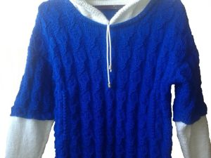 Вяжем свитер с капюшоном. Ярмарка Мастеров - ручная работа, handmade.